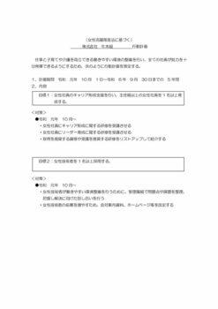 行動計画(女性活躍推進法)〈PDF〉