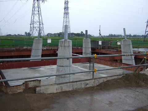 ユアテック送電線鉄塔基礎工事