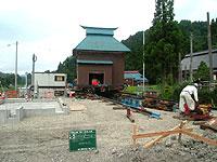 倉庫の曳きや工事
